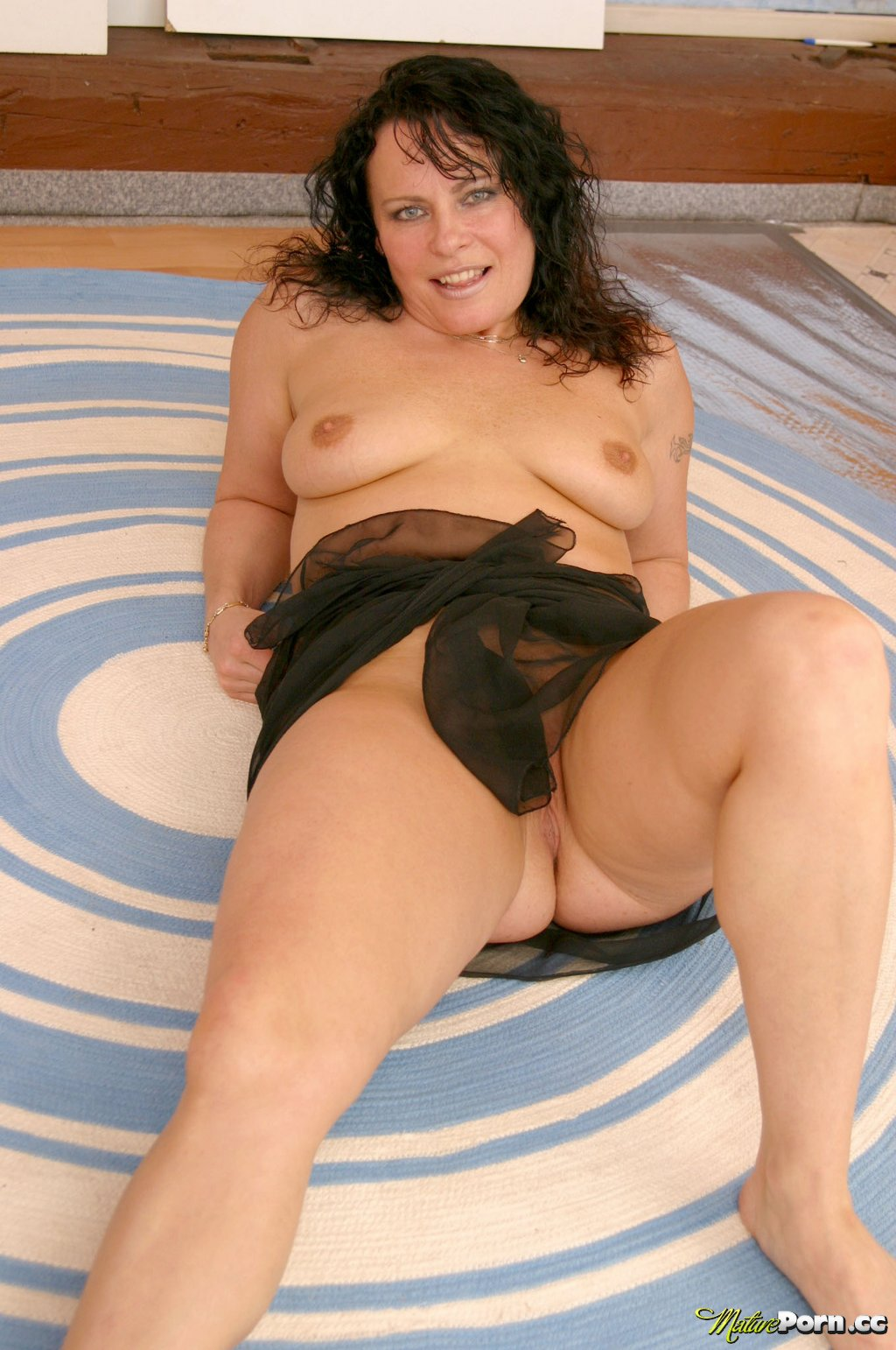 Asian mature curly shower