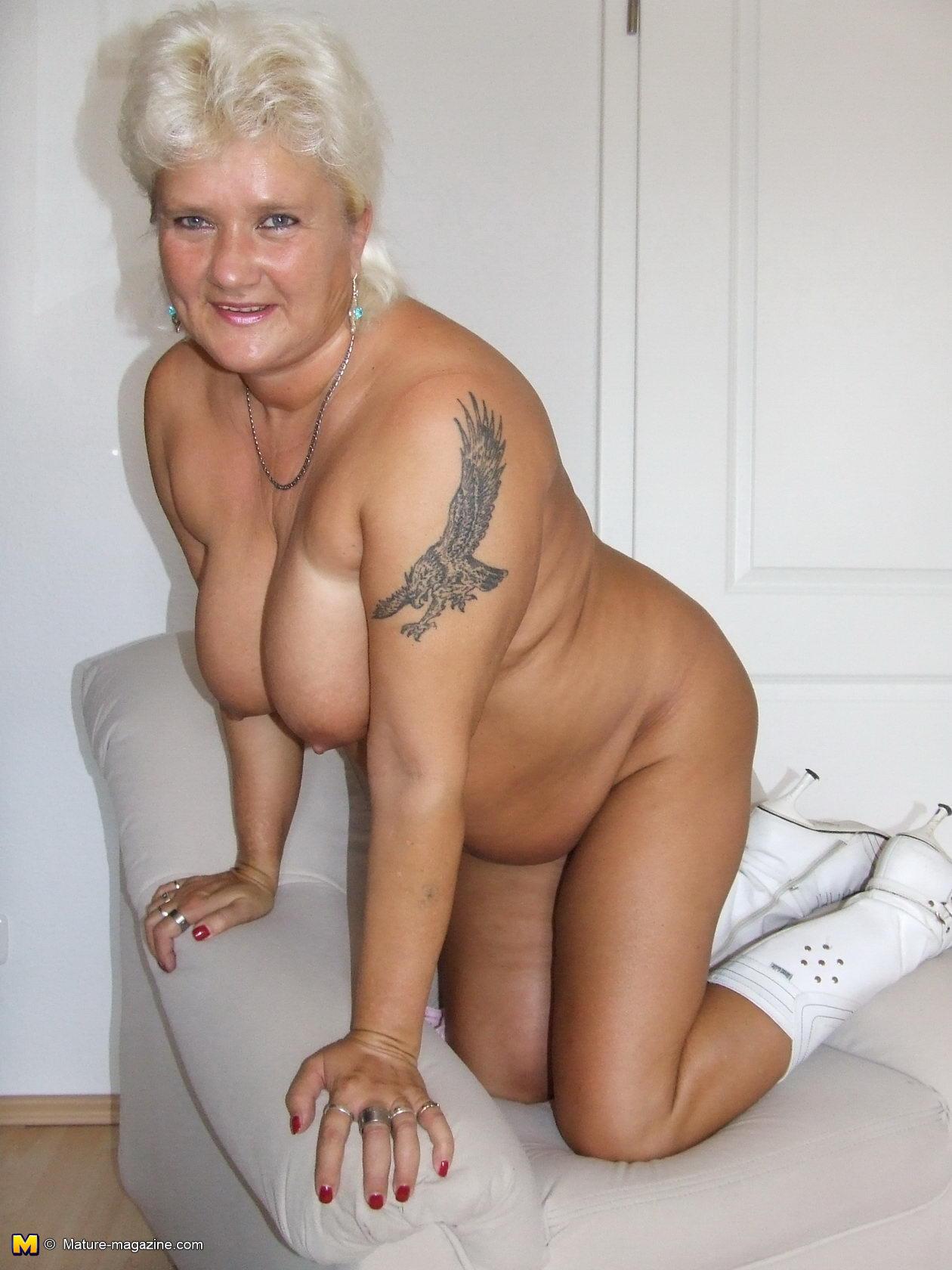 white hair granny nude